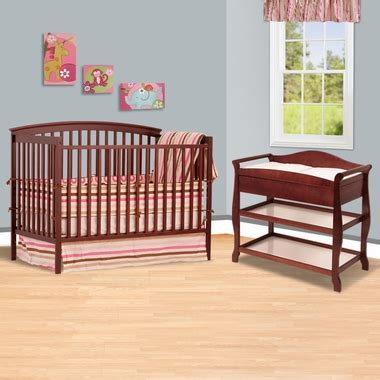 Convertible Cribs With Changing Table And Drawers Storkcraft Cherry Bradford 4 In 1 Convertible Crib And Aspen Changing Table With Drawer 2