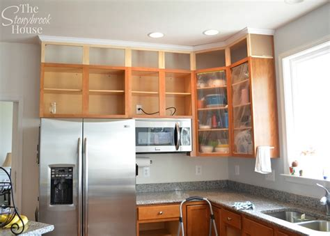 extending kitchen cabinets to ceiling extending kitchen cabinets to the ceiling the stonybrook