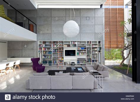 Living Room Doubles As Bedroom Height Living Room With Bookcase In Dahan House