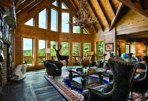 great room 7 more than great log home great rooms