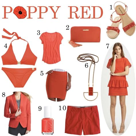 what color is poppy 10 poppy clothing items for 2013