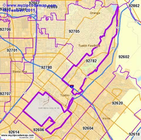 map of tustin california zip code map of 92782 demographic profile residential