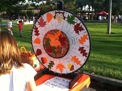 themes for management college festivals elementary school fall festival game ideas wheel spin