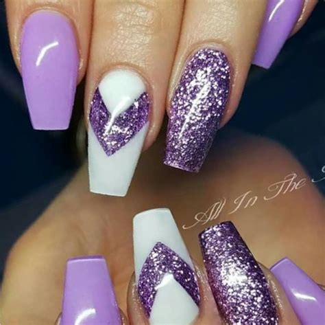 purple pattern nails 31 snowflake nail designs purple picsrelevant