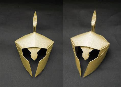 origami helmet kurth tutorial