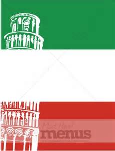 italian flag leaning tower menu backgrounds