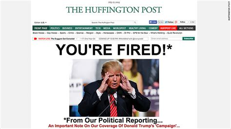 huffington post sections huffington post to cover trump as an entertainer not a