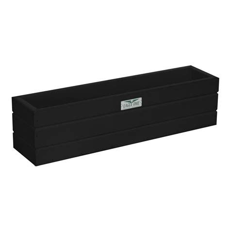 Black Plastic Window Box Planters by Eagle One 21 5 In X 5 In X 5 5 In Black Recycled
