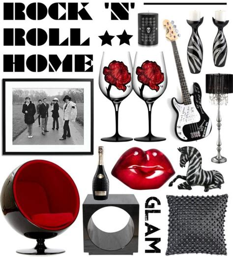 rock n roll home decor quot rock n roll home quot by elske88 on polyvore rocked out