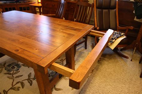 Oak Dining Room Settler S Trestle Table Ohio Hardwood Furniture