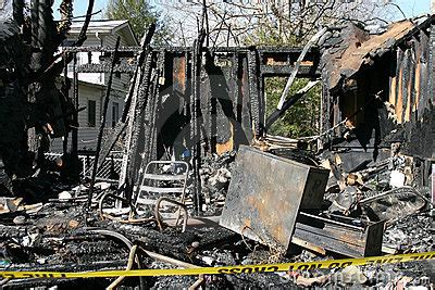 house burnt down burned down house royalty free stock image image 16973786