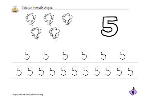 Latihan Menulis Angka belajar menulis angka