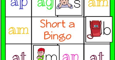 bingo mat word families bingo mat for a words adaptable to be