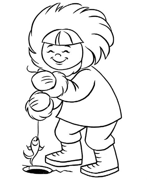 eskimo coloring page az coloring pages