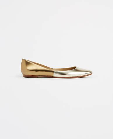 Promo Flat Shoes Winnie Id Pdh Suede image of lowey metallic leather flats