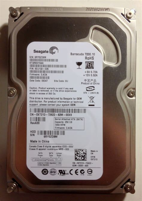 Seagate Barracuda 1tb 3 5 Quot for sale seagate barracuda 250gb 7200rpm 3 5 quot sataii