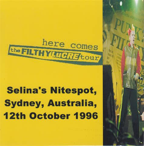 Cd Pistols Filthy Lucre Live never mind the bollocks heres the artwork albums 1996