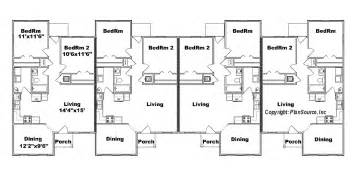 4 plex j949 4 plansource inc fourplex plan 20 ft wide house plan row home plan 4