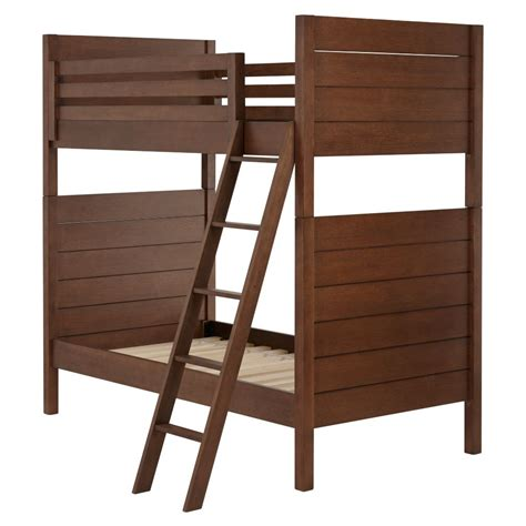 land of nod bunk beds uptown bunk bed brown the land of nod
