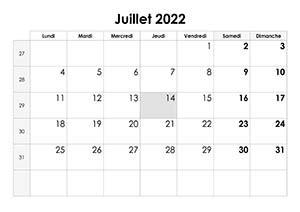 calendrier juillet  calendriersu