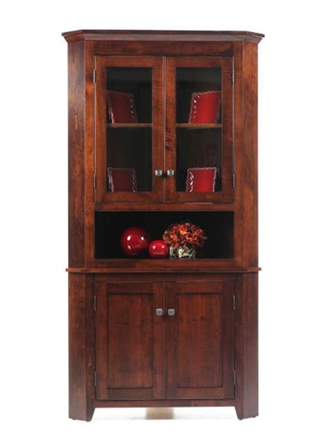 corner dining room hutch newport shaker corner hutch amish dining room furniture