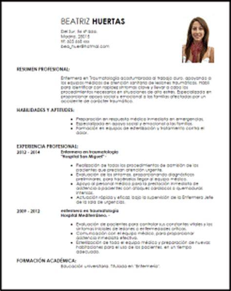 Modelo De Curriculum Vitae De Licenciada En Enfermeria Modelo Curriculum Vitae Enfermera En Traumatolog 237 A Livecareer