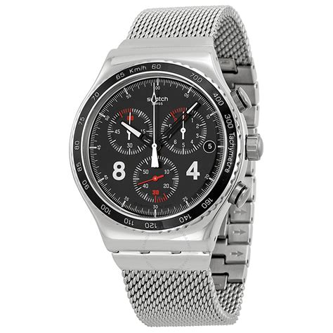 swatch irony watches swatch irony blackie chronograph men s watch yvs401g