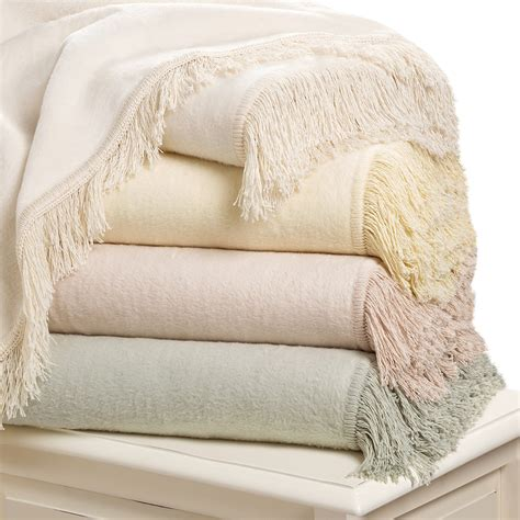 downtown shangri la fringed plush throw blanket cotton