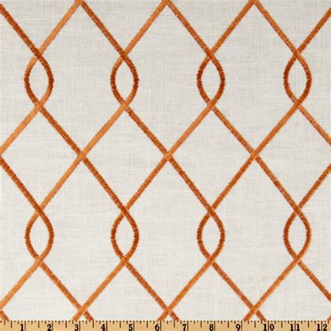 Trellis Fabric Curtains Duralee Home Embroidered Papaya Valance Curtains Cover Pillow And Curtains