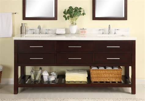 72 Inch Double Sink Modern Cherry Bathroom Vanity with