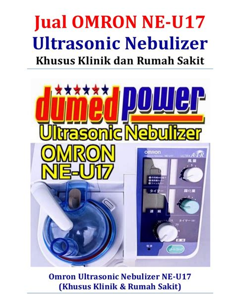 jual omron ne u17 ultrasonic nebulizer murah