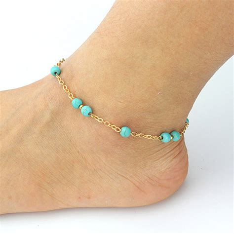 Handmade Beaded Anklets - buy fashion handmade beaded turquoise anklets by