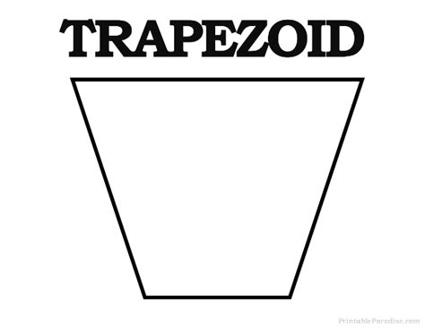 printable shapes trapezoid printable trapezoid shape learning pinterest