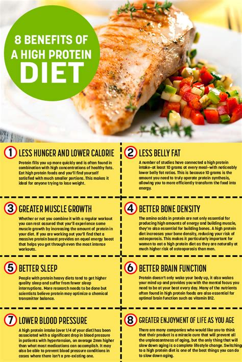 protein high the benefits of a high protein diet infographic