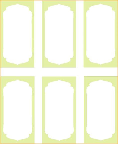 8 free printable label templates card authorization 2017