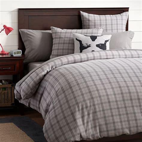 flannel comforter cover hayden plaid flannel duvet cover sham pbteen