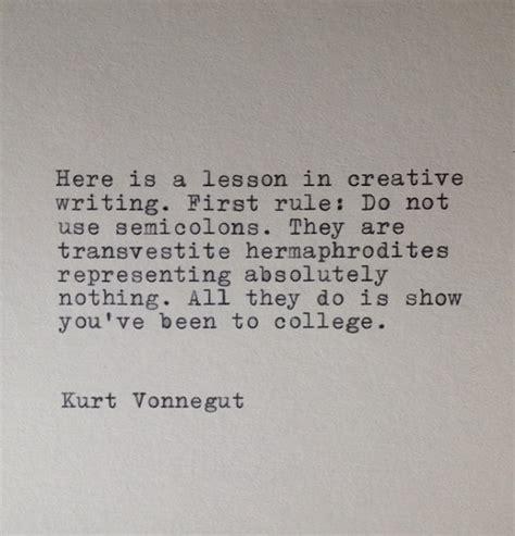 Kurt Vonnegut Essay by Kurt Vonnegut Writing Typed Typewriter Quote