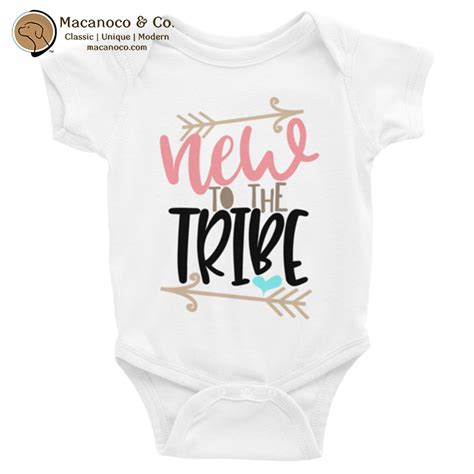 New To The Tribe by New To The Tribe Onesie Macanoco And Co