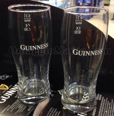 bicchieri guinness bicchiere guinness omaggio omaggiomania