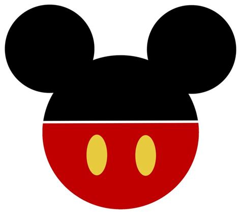 mickey mouse face clipart clipground
