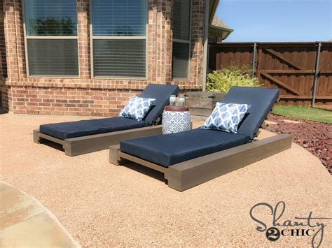 diy modern outdoor lounge chair diy outdoor lounge chair and how to shanty 2 chic