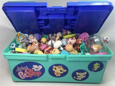 littlest pet shop box lot lps random grab bag 10 pets