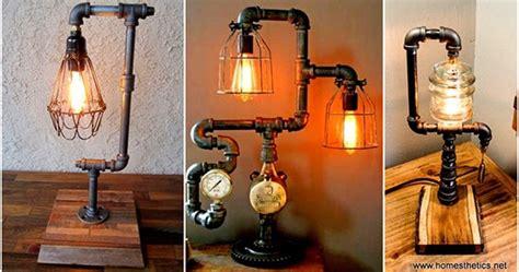 lingkar warna desain lampu unik  pipa bekas