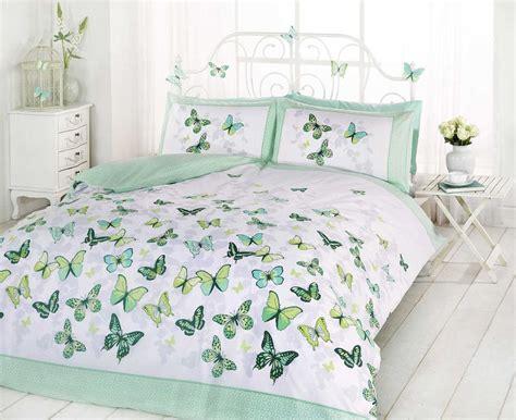 Butterfly Bloom Bedsheet Single 1 duvet cover set single king flutter butterfly reversible green ebay