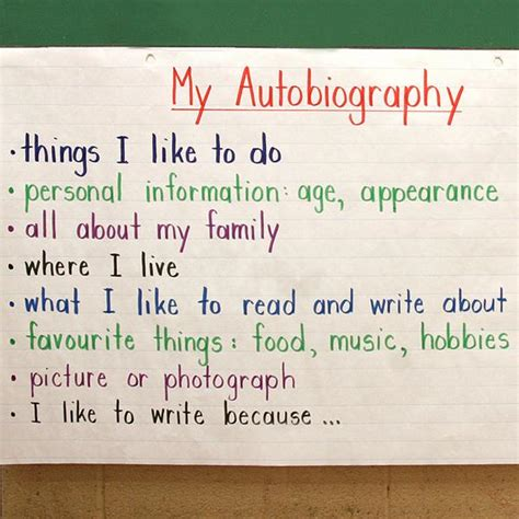 biography writing features all about me autobiography school pinterest anchor