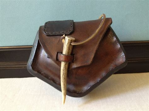 the leather pouch handmade leather hip bag belt pouch by jansvintagestuff