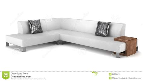 pillows on a leather couch modern leather couch with pillows isolated stock images