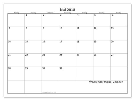 Kalender 2018 April Mai Kalender Zum Ausdrucken Mai 2018 Deutschland
