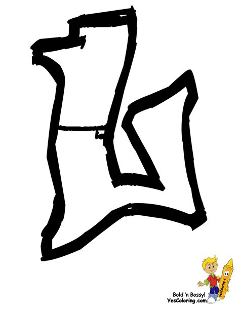 coloring pages graffiti letters free graffiti letters j coloring pages