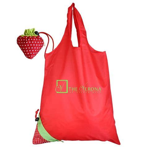china 190t strawberry folding bag china polyester